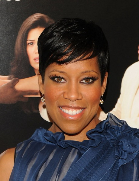 African American Short Black Haircut from Regina King Short-Black ...