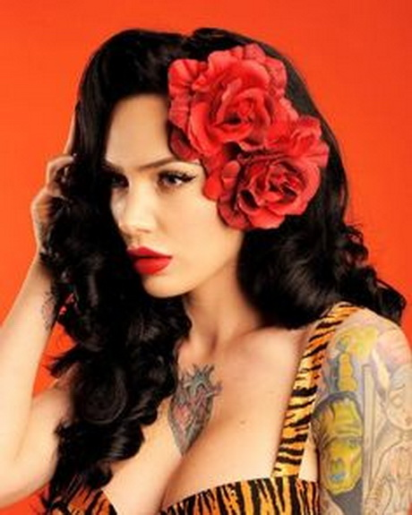 Perfect   Pin Up Girls Hairstyles Long Hair Cool Girls Hairstyles For School