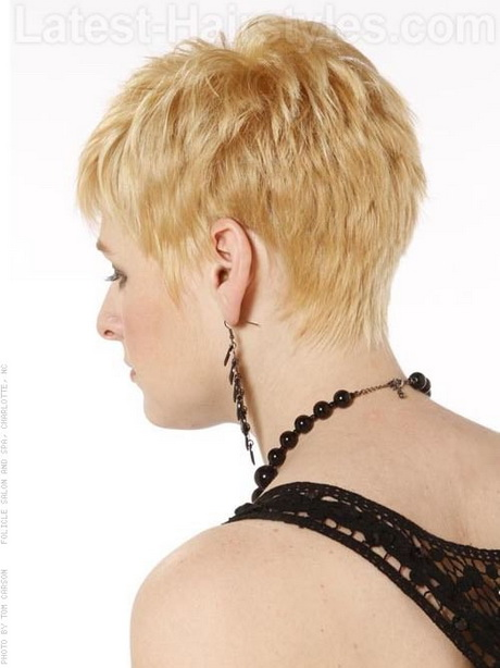 Pixie Shag Cut with Longer Bangs Sculpted Back Pin It