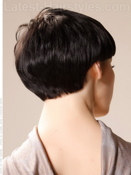 Bowl Me Over Sweet Simple Pixie Hairstyle Look Back View