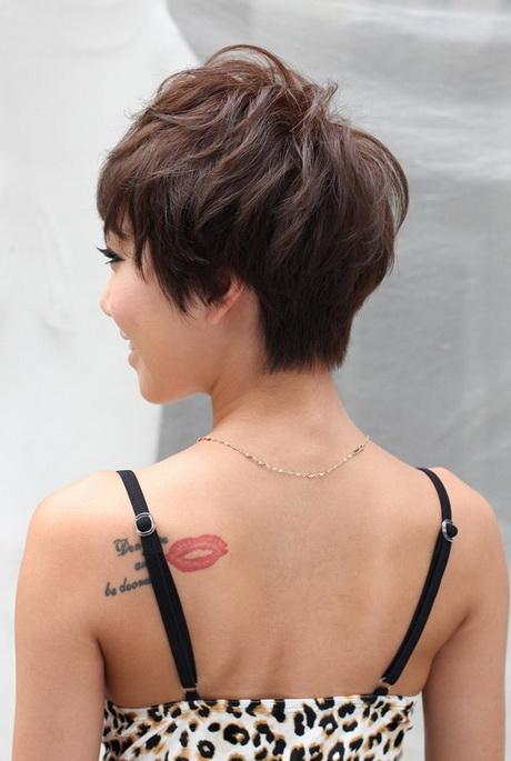 ... Pixie Haircut middot; Back View of Layered Short Haircut. Back View of