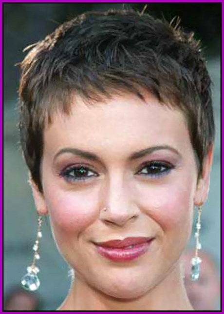Pixie haircut women