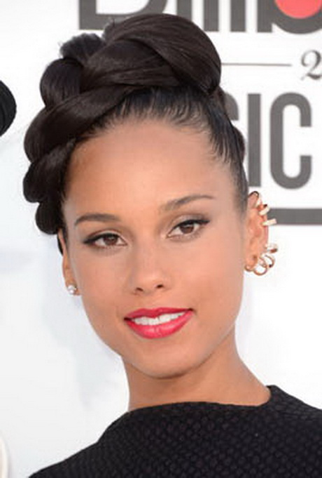 ... - Weave Ponytail Hairstyles From Janet Ponytail And Bump Bangs Black