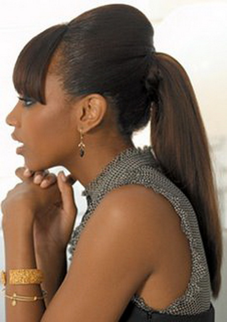 Black Hair Styles With A Ponytail Hairstyle Gallery