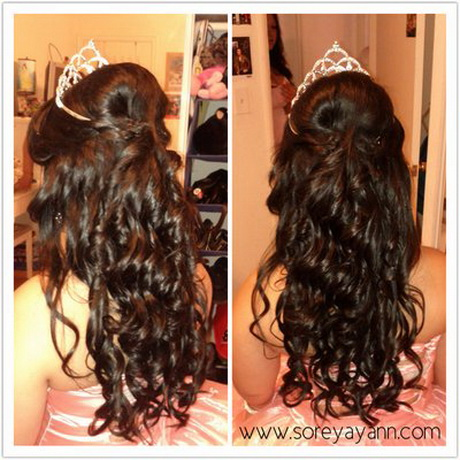 Quinceanera Hairstyles For Long Hair With Tiara : quinceanera hair styles pretty hair styles