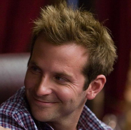 Yes Man Haircuts and Styles | Bradley Cooper Receding Hairline Spiked