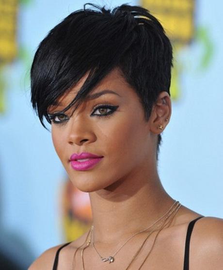 Rihanna Pixie Haircut Tunsori Choppy Scurt