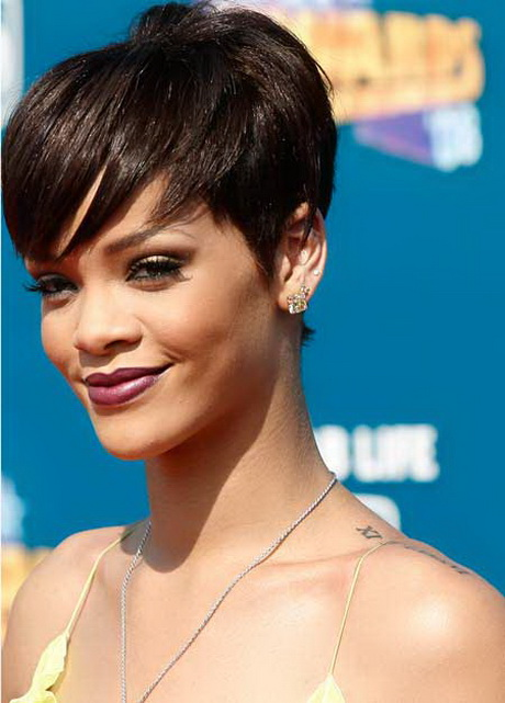 Rihanna Pixie Haircut Front And Back View | HAIRSTYLE GALLERY