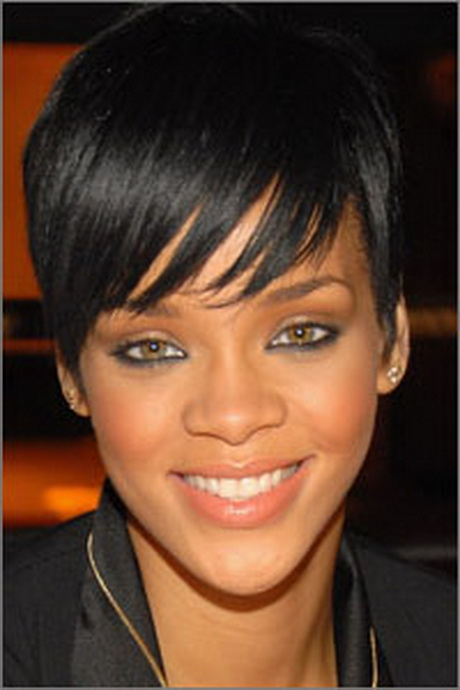 Side And Back View With Rihanna Short Hairstyle In 2013