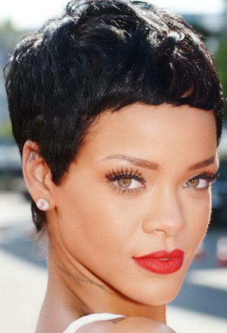 Rihanna short hairstyles 2014