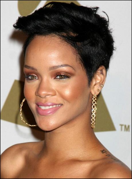 Rihannas short hairstyles