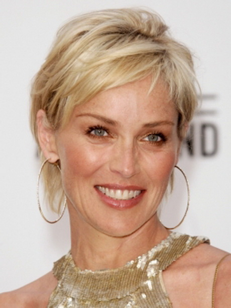 pictures sharon stone hairstyles sharon stone s short shag