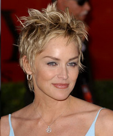 Sharon stone short hairstyles