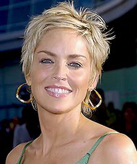 sharon stone short blonde hairstyles
