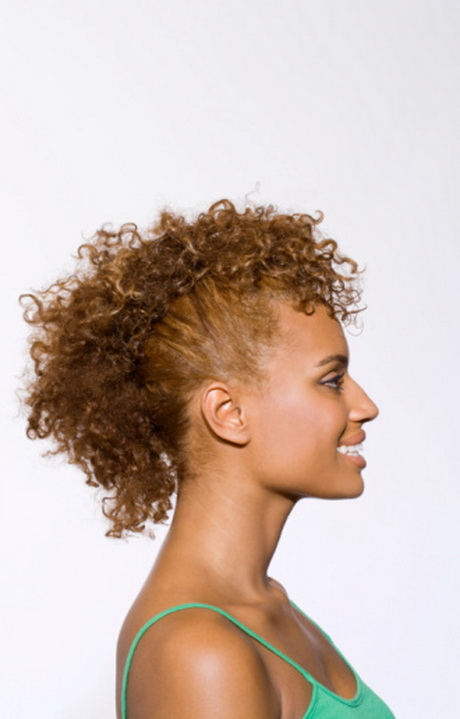Natural Hair HowTo Curly Faux Hawk  Seventeen Magazine