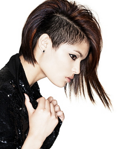 Shaved sides hairstyles women