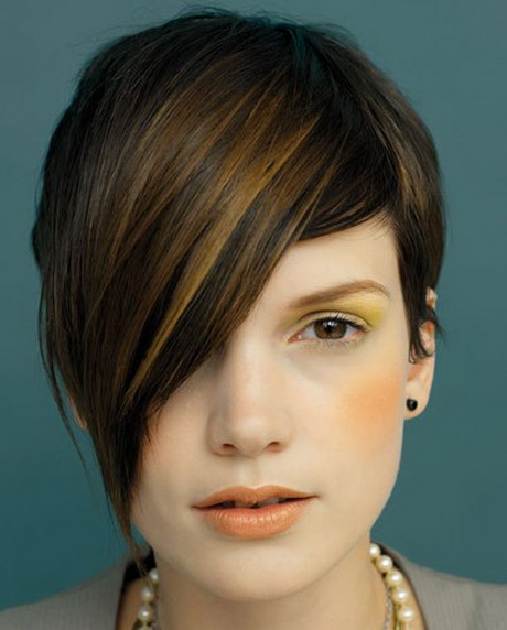 short haircuts asymmetrical haircuts one sided hairstyles short ...