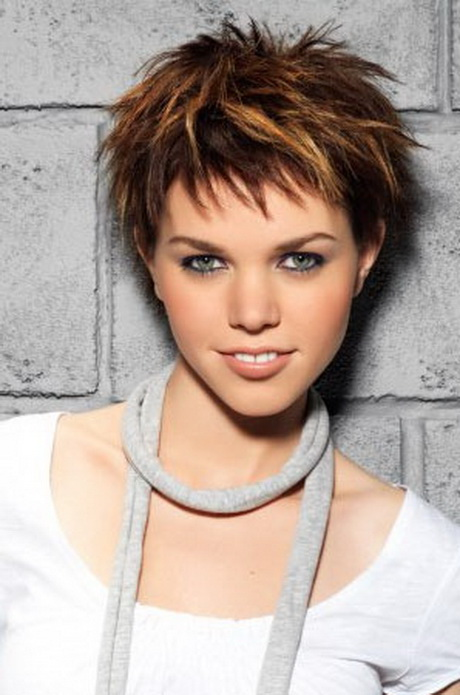 Short choppy hair styles