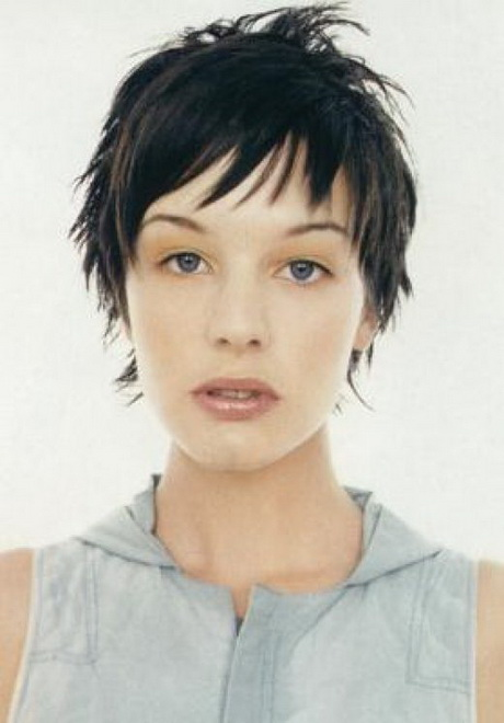Short Choppy Hairstyles with Bangs for Women