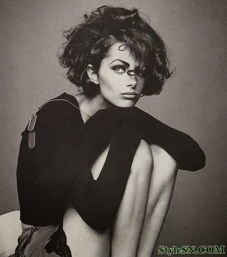 Retro Short Curly Hairstyles 2014