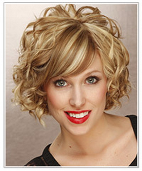 Hairstyles For Curly Hair And Oval Face : Our first short hairstyle pictured left is a great tapered cut that