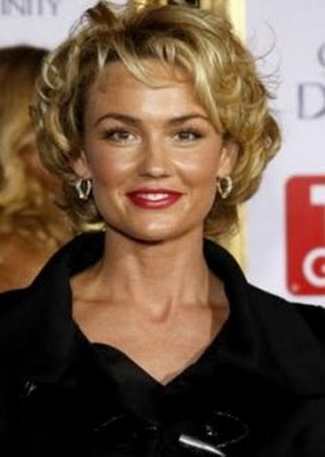 Curly Hairstyle Short Haircuts for Women Over 50