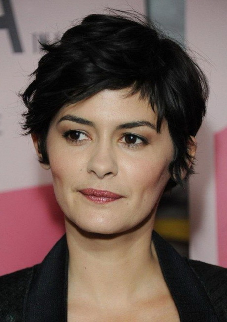 Black Short Curly Pixie Cut Hairstyle