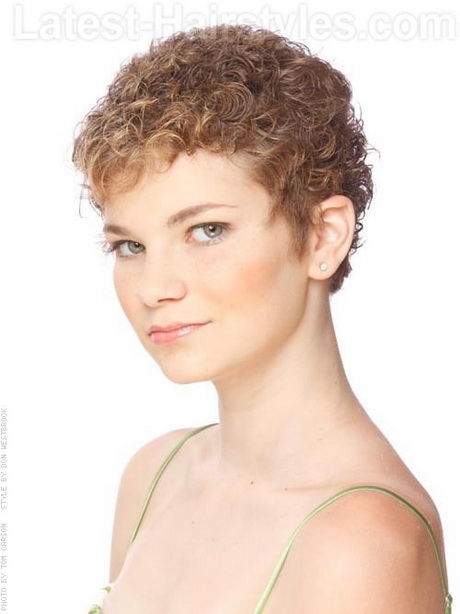 Hairstyles For Really Curly Hair : Short curly pixie hairstyles