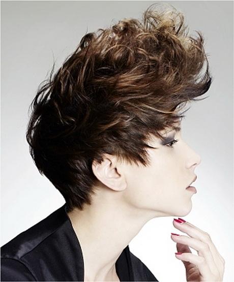 Curly punk hair