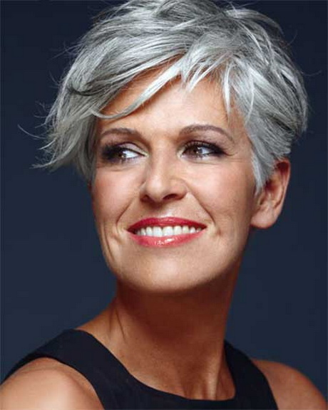 Perfect Short Grey Hairstyles For Women  Beautiful Short Straight Grey 5quot