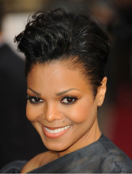 Short hair styles for black women with round faces
