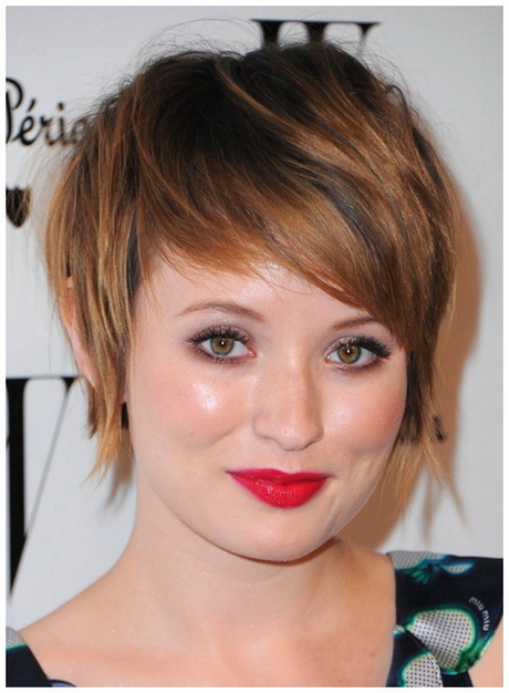 Short hairstyles for chubby girls
