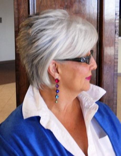 Short haircuts for gray hair