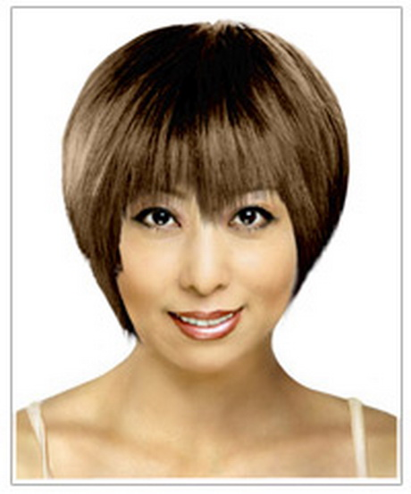 Hairstyles Rectangular Faces : Oblong face shape short hairstyle This hairstyle is a very good ...