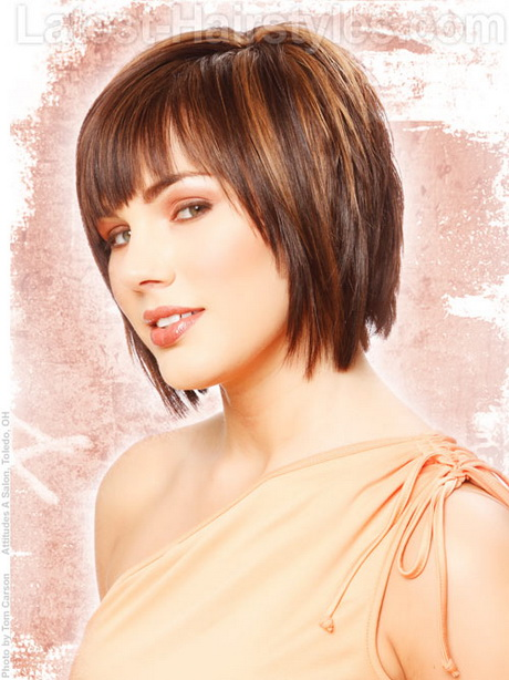Short Haircuts With Bangs And Layers