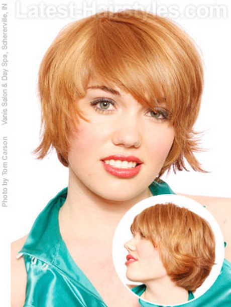 Short Hairstyle Round Face Women
