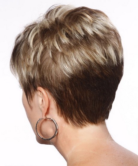 A Short Stacked Bob Hairstyles Back View