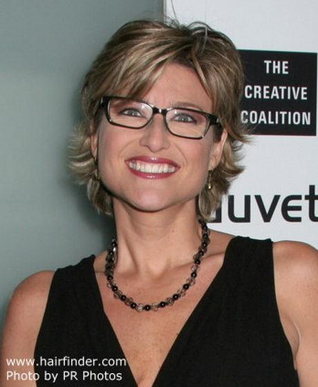 ... Banfield's short haircut that looks great for women wearing glasses