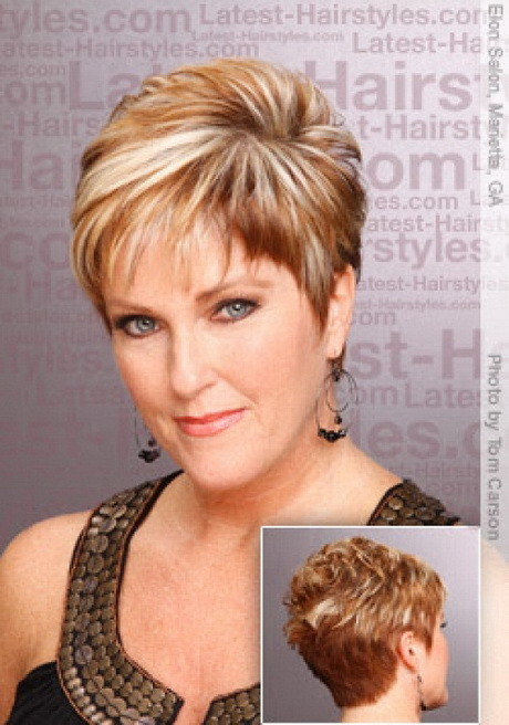 Short Hairstyles For Older Women With Round Faces