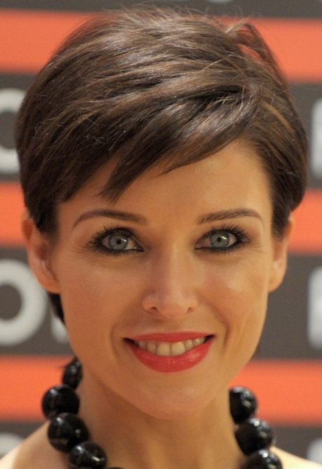 Short hairstyles for older women with thick hair