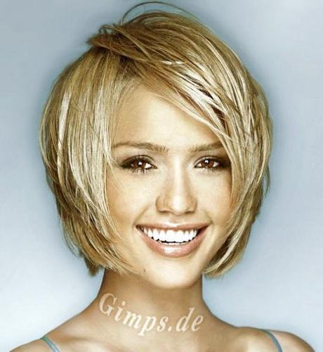 Short Hair Thick Hair Round face. Via Cathy Platon