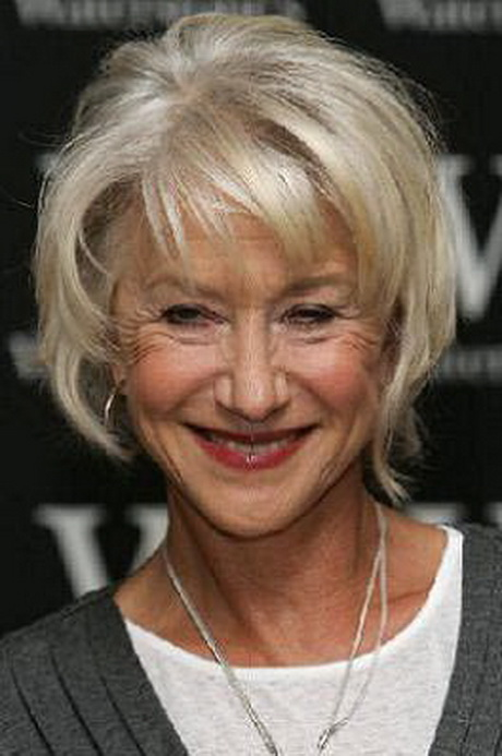Short hairstyles for women over 70