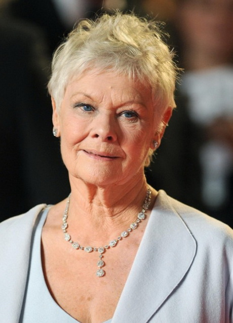Judi Dench Pixie Cut for Women Over 70 Short Pixie Cut for Mature ...