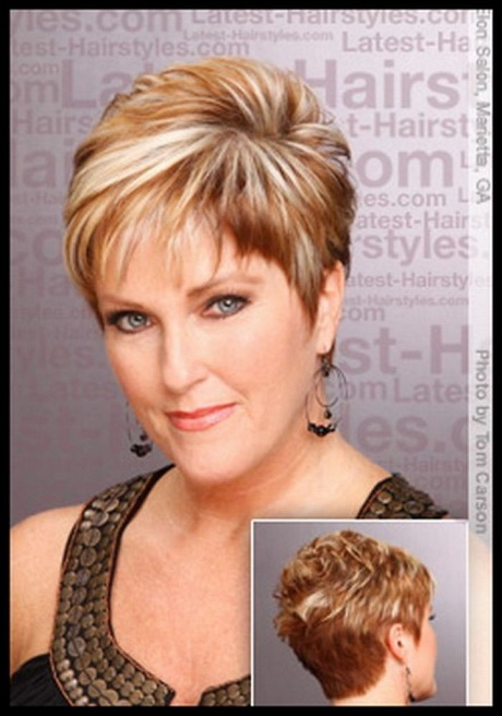 Short hairstyles women over 60