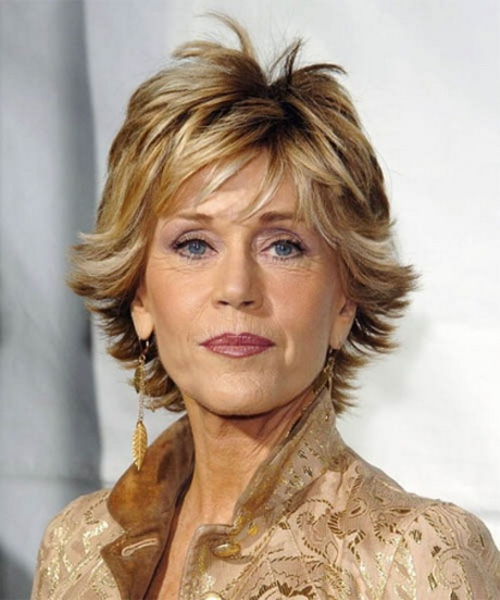 Short thick hair done in fine spiky layers and colored with brown