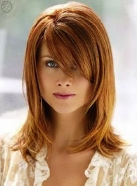Cute Hairstyles For Shoulder Length Hair With Side Bangs And Layers : Short layered haircuts with side bangs