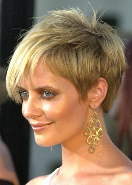Short Hairstyles Round Face Fine Hair