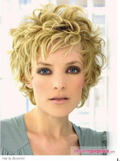 Short messy curly hairstyles
