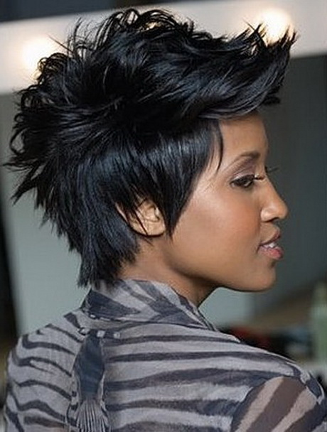 Short mohawk hairstyles for black women