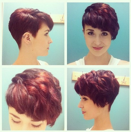 Bouncy Side Swept Pixie Hairdo: